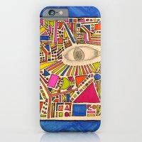 iPhone & iPod Case featuring Tribal Eye Geo Melee by Ruben Alexander