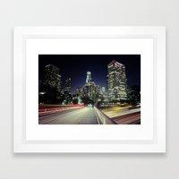 Black River, Your City Lights Shine Framed Art Print