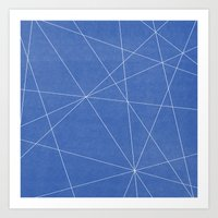 Geometric Blue Art Print