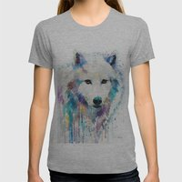 Arctic Wolf Womens Fitted Tee Athletic Grey SMALL