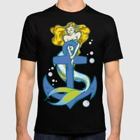 Anchored Mens Fitted Tee Black SMALL