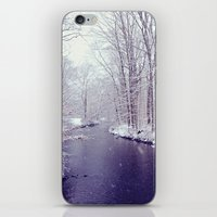 iPhone & iPod Skin featuring winter blues by Mary Carroll