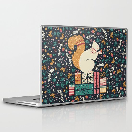 Merry Little Squirrel  Laptop & iPad Skin