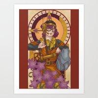Chronos IV Nouveau Art Print