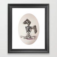 Mixed Media Drawing : Me… Framed Art Print