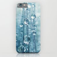 iPhone & iPod Case featuring Blue Grass drops II by Sharon Johnstone