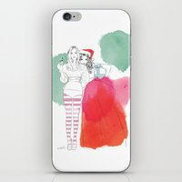 Christmas Illustrations iPhone & iPod Skin