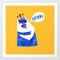 Ice King Looks Crazy See… Art Print