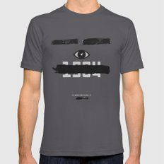George Orwell's 1984 Inspired Vintage Movie Poster Mens Fitted Tee Asphalt SMALL