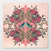 Love Birds II (pink Edit… Canvas Print