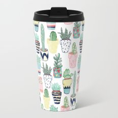 Cute Cacti in Pots Travel Mug