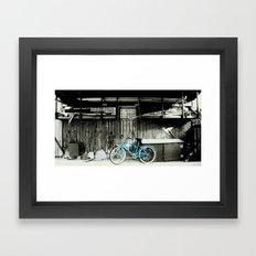blue bike series 3.1 Framed Art Print
