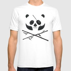Panda Pirate! Mens Fitted Tee White SMALL