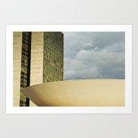 Brasilia, Brazil Archite… Art Print