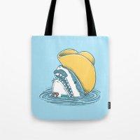 Funny Hat Shark Tote Bag