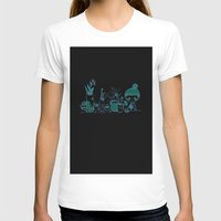 Little Garden Womens Fitted Tee White SMALL