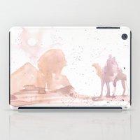 Watercolor landscape illustration_Egypt iPad Case
