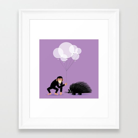 The Inappropriate Gift  (colour variation) Framed Art Print