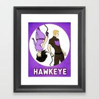 Hawkeye Squared Framed Art Print