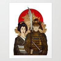 Samurai's Daughter Art Print