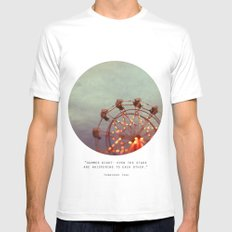 Starlight, Starbright  Mens Fitted Tee SMALL White