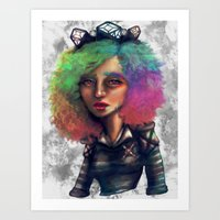 All We See Is Ultraviole… Art Print