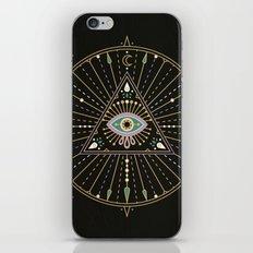 Evil Eye Mandala – Black iPhone & iPod Skin