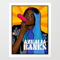 Azealia Banks Blows Up! Art Print