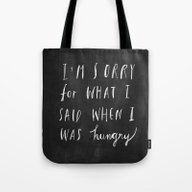 Tote Bag featuring Sorry Quote-  I Am Sorry… by Nneko