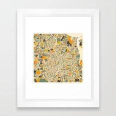 Rochester Map Framed Art Print