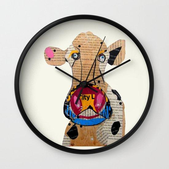 cow frazer Wall Clock