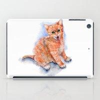 Happy Orange Kitten iPad Case