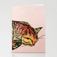 Cat Shimmie (pinkish Pap… Stationery Cards