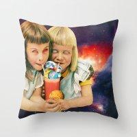 Exoplanet Cocktail Throw Pillow