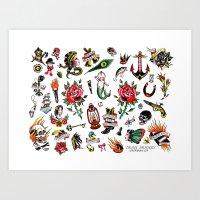 Dean Denney Flash Sheet! Art Print