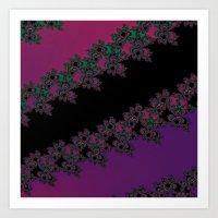 Fractal Layered Lace  Art Print