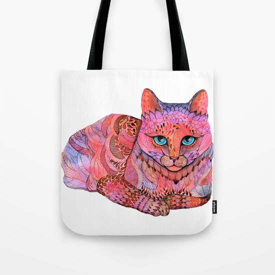 SUNSET CAT Tote Bag