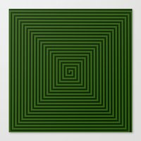 Squared Spiral Canvas Print