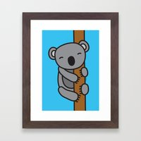 Cute Koala Framed Art Print