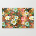 Spring Showers Fabulous Flowers Canvas Print