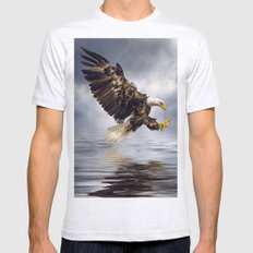 Bald Eagle swooping Mens Fitted Tee Ash Grey SMALL