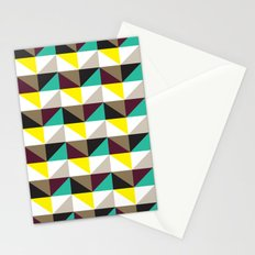 Yellow, purple, turquoise triangle pattern Stationery Cards
