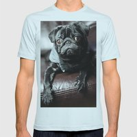 Pug Mens Fitted Tee Light Blue SMALL