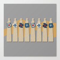 Gaudi Chimneys Canvas Print