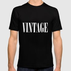 Vintage  Mens Fitted Tee Black SMALL