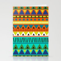 Aztec Indigo Stationery Cards