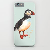 iPhone & iPod Case featuring Puffin - Archie Aviator by eastwitching