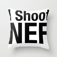 I Shoot NEF Throw Pillow