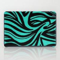 Blue & Black Waves iPad Case
