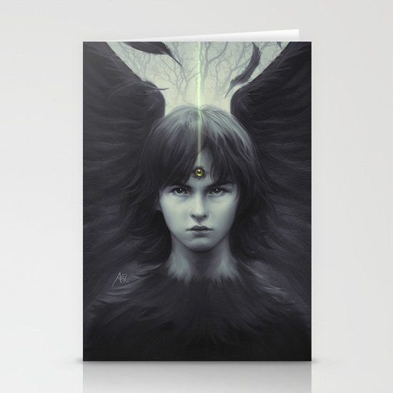 Eye of Raven Stationery Card